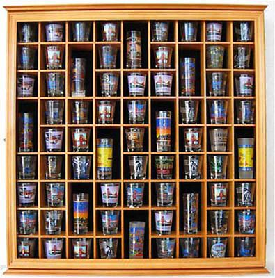 Large Wall Shadow Box Cabinet To Hold 71 Shot Glasses Display Case Hardwood Glass Display Case Shot Glasses Display Wine Glass Display