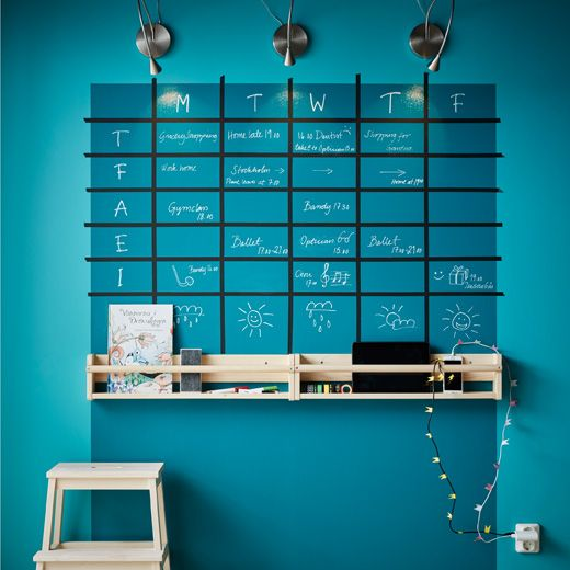 Weekly planner diy ikea we made this one with tape and for Ikea home planner 2017