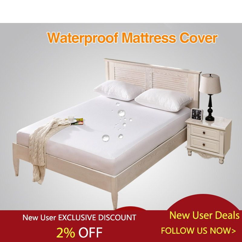 Waterproof Bed Cover Smooth Mattress Protector Cover For Bed Wetting Breathable Anti Mite Mattress P Mattress Pad Cover Waterproof Mattress Cover Mattress Pads