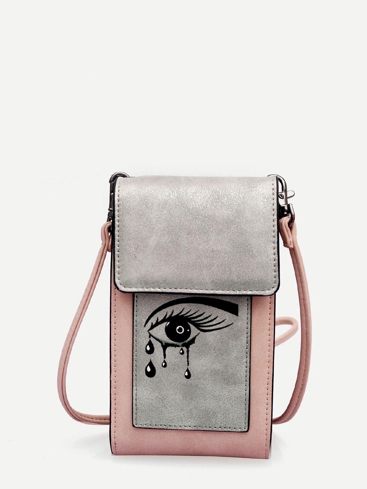 076a019bdb182 Eye Print Flap Crossbody Bag | Funny, cool bags | Bags, Crossbody ...