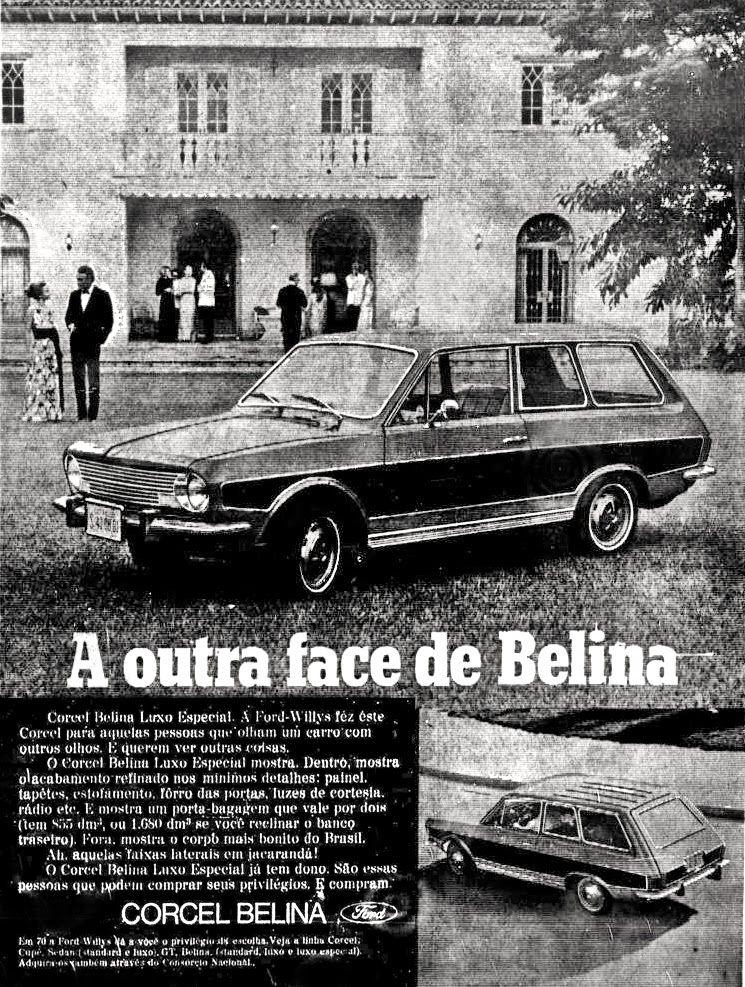 Anuncio Ford Belina 1970 Propagandas Antigas Carros Carros
