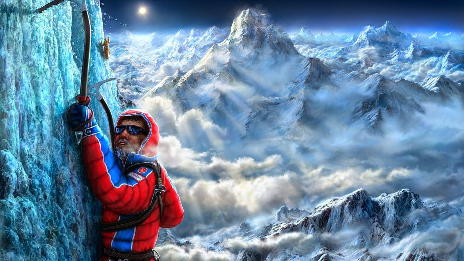 wall2web: Ice Climbing Gaming Pictures