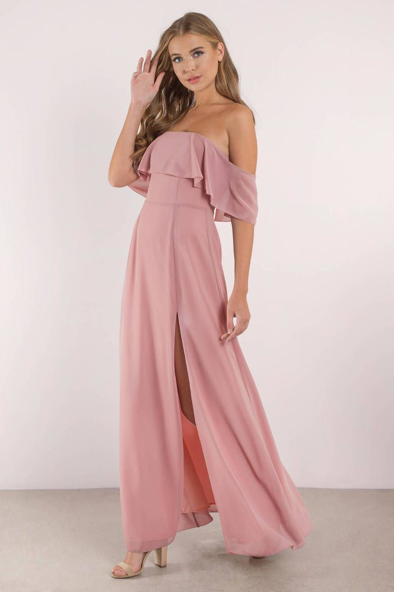 Into You Slate Ruffle Top Maxi Dress | Weddings! | Pinterest ...