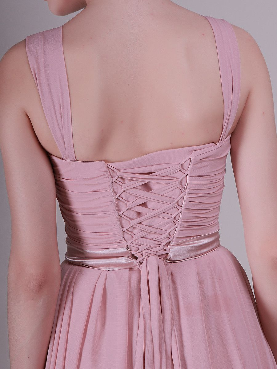 Twisted bodice jeweled strap vintage bridesmaid dress plus and
