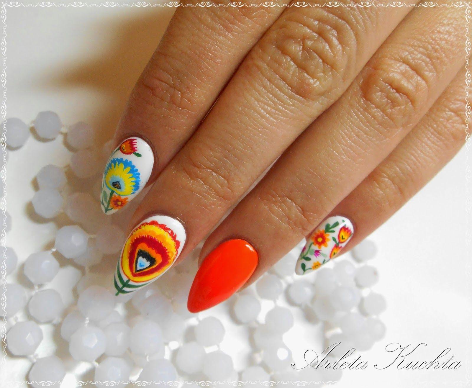 Paznokcie Kwiaty Lowickie Szukaj W Google Manicure Nails Nail Designs
