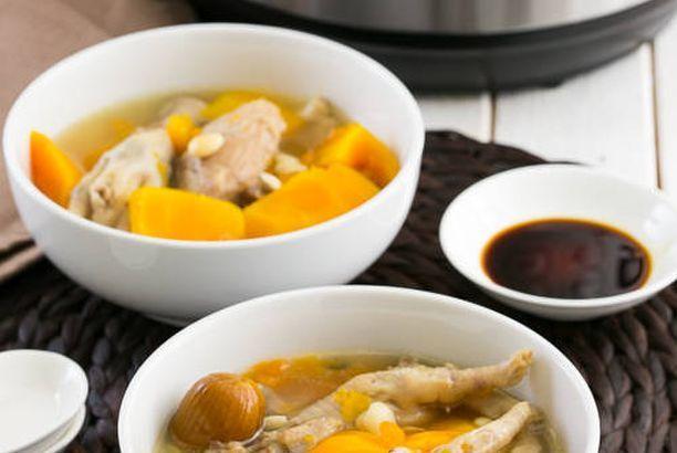 紅木瓜雞腳豬展湯【壓力煲食譜】Papaya and Chicken Feet Soup