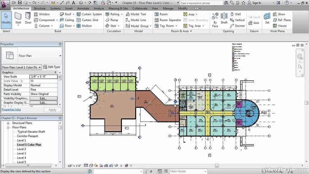 Adding A Color Fill Plan Revit Architecture Tutorial Revit Tutorial Revit Architecture How To Plan