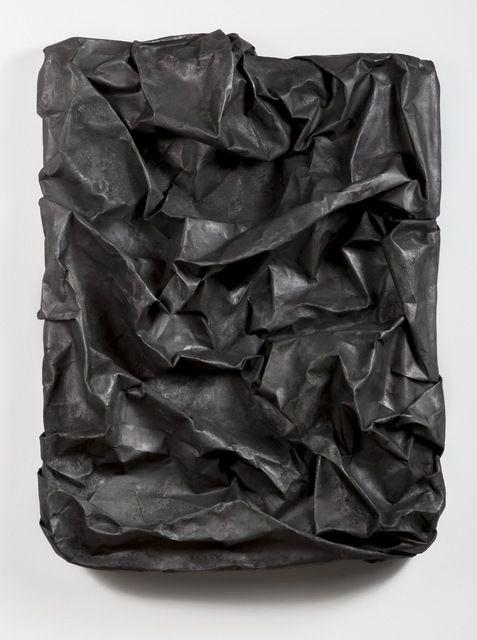 Lauren Seiden . black raw wrap 1, 2014