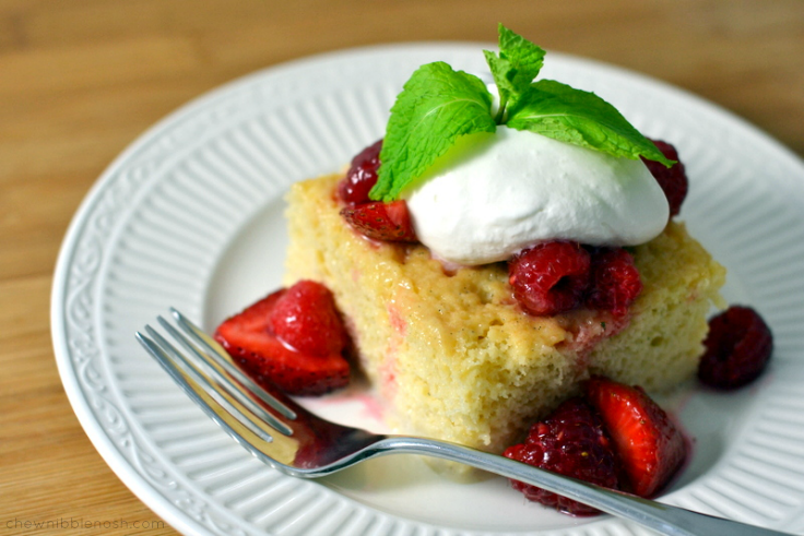 Tres Leches Cake with Berries - Chew Nibble Nosh
