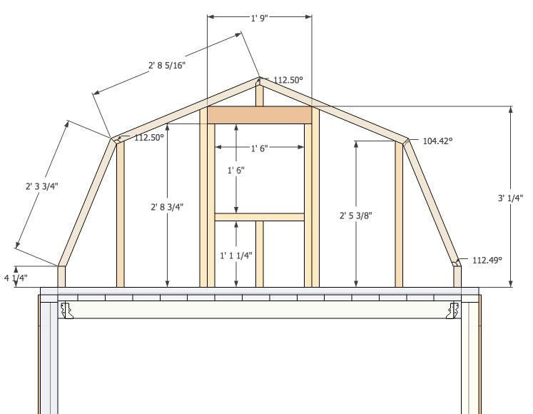 Micro Gambrel Gambrel Wall Small Barn Plans Gambrel Roof Storage Building Homes