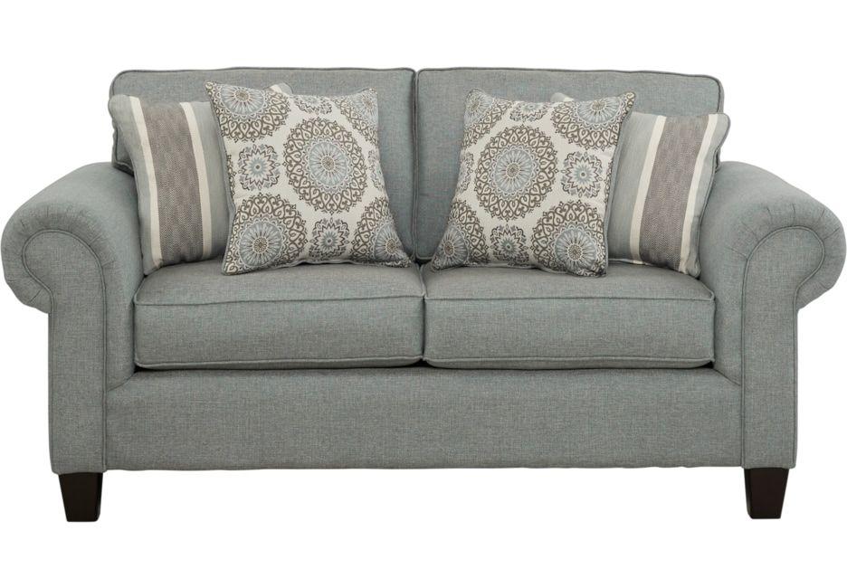 Pennington Blue Loveseat Sofa Family Room Design Living Room Sofa