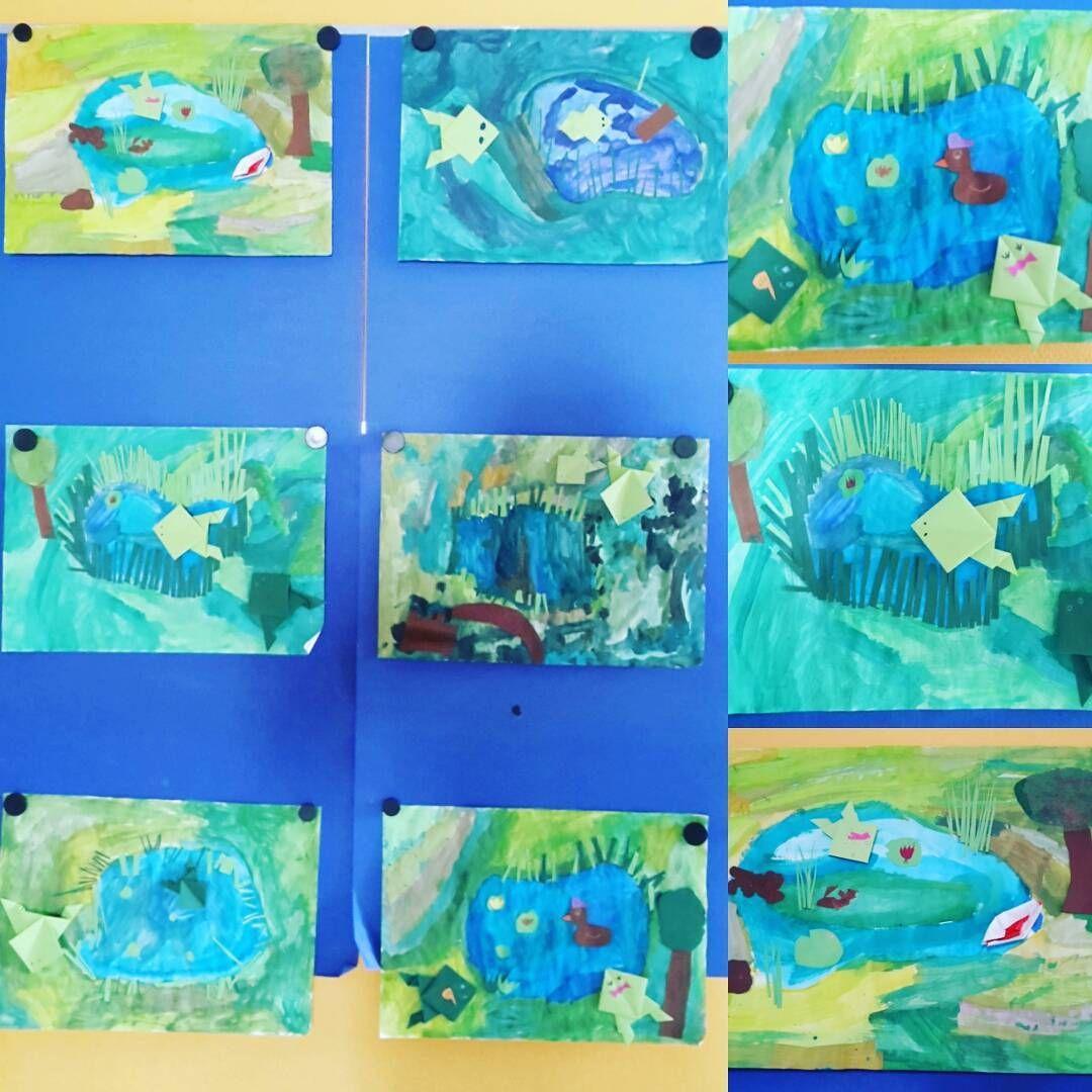 Unsere Neueste Arbeit In Kunst, Ein Teich Mit Gefalteten