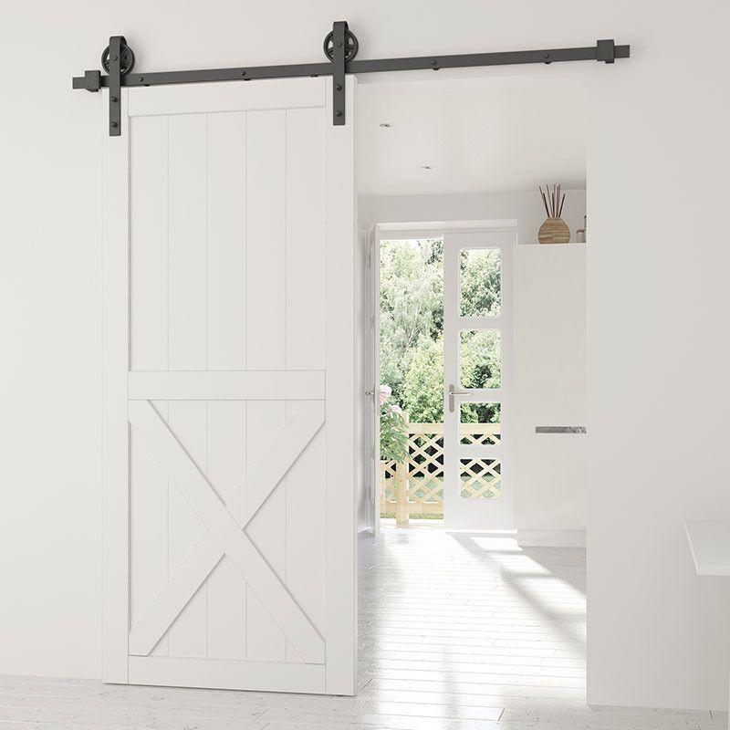 Door Thickness 1 3 8 To 1 3 4 Maximum Door Weight 330 Lbs Door Width Up To 39 For 78 3 4 Rail Length Kit Includes Wood Doors Wood Barn Door Door Kits