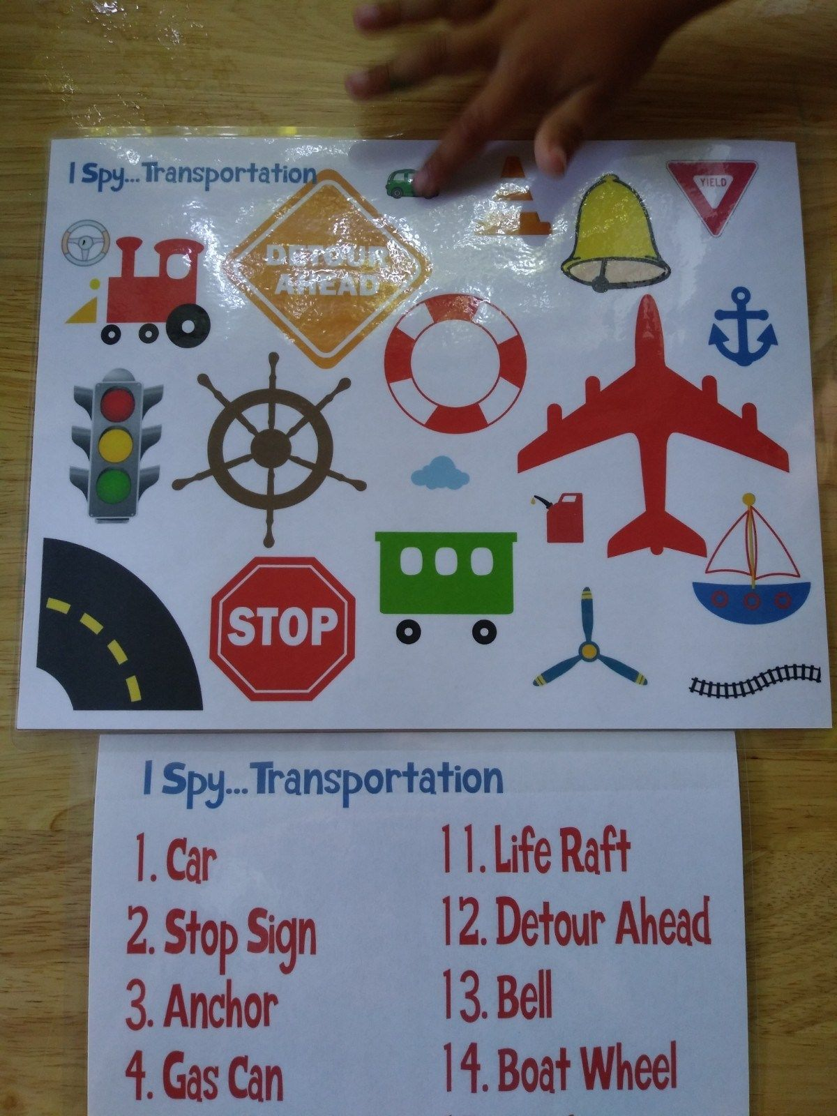 Things That Go Transportation Lesson Day 3
