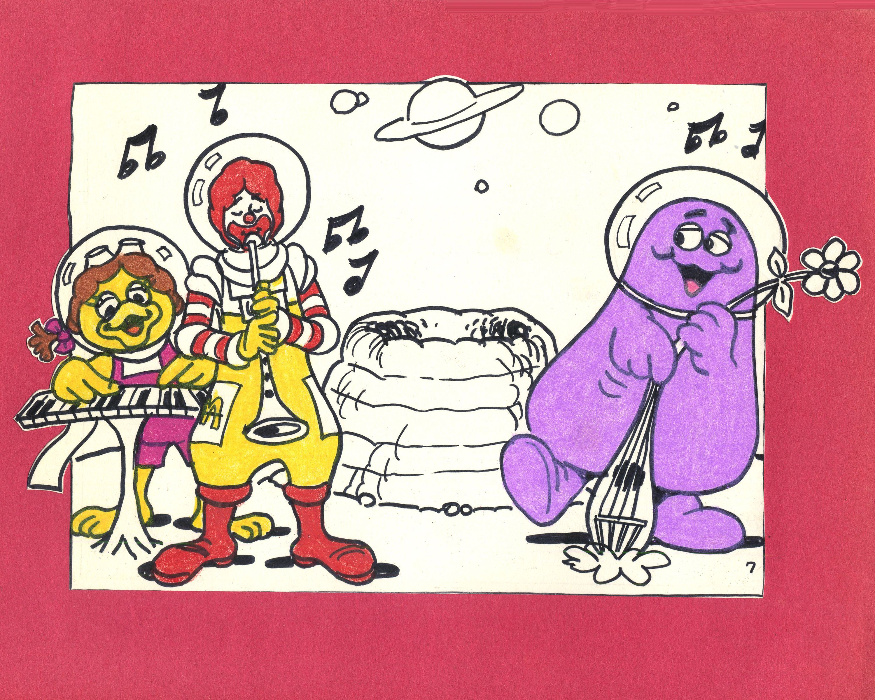 Looks like Ronald McDonald, Birdie and Grimace are exploring some ...