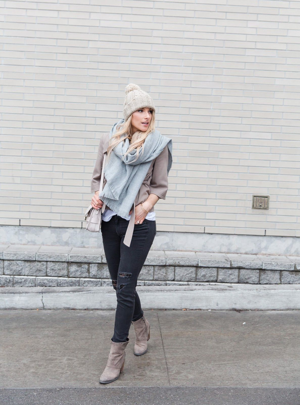 O U T F I T  D E T A I L S  :  KNIT HAT -- OLD  ( SIMILAR , LOVE THIS )  |   SCARF  -- UNDER $10!  |  NAVY COAT -- OLD  ( SIMILAR , SIM...