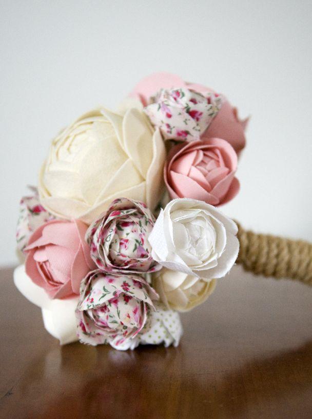 Handmade Fabric Flower Bouquet – Pink | Crafts | Pinterest | Flower ...
