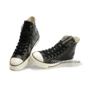 8eef8216a55c Overseas Black Converse High Tops All Star Ox Leather Sneakers Best ...