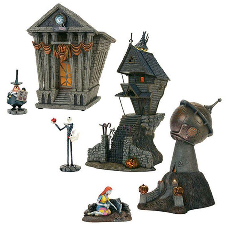 Department 56 the nightmare before christmas village 6 pc