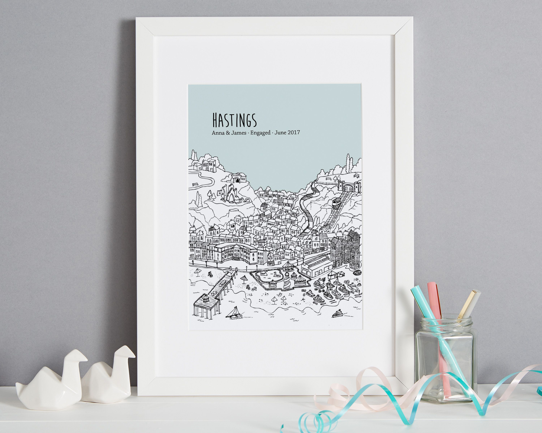 Personalised Hastings Print #preguntassevilla