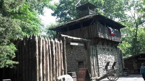 A Recreation Of Fort Sandusky Located In Frontier Town In Cedar Point.