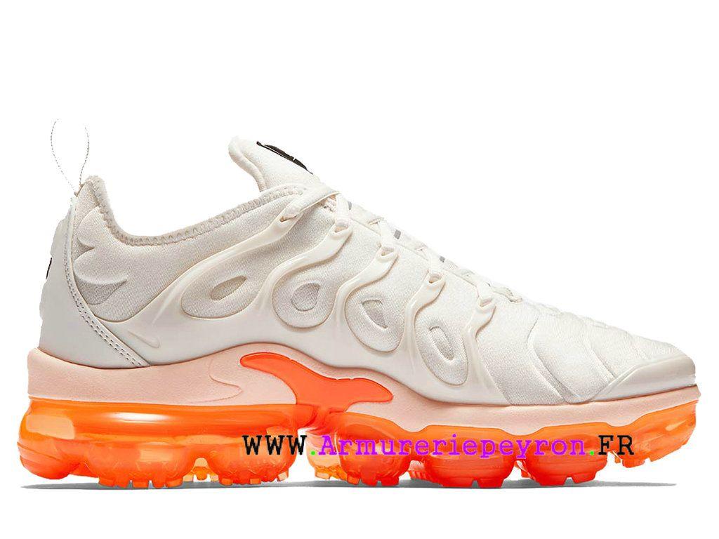 save off e711d ecf15 Chaussures de Basketball Coussin Dair Prix Pour Homme Gris-blanc orange Nike  Air VaporMax Plus