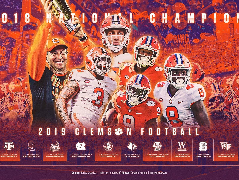 2019 Clemson Football Wallpaper Football Wallpaper Clemson Football Clemson