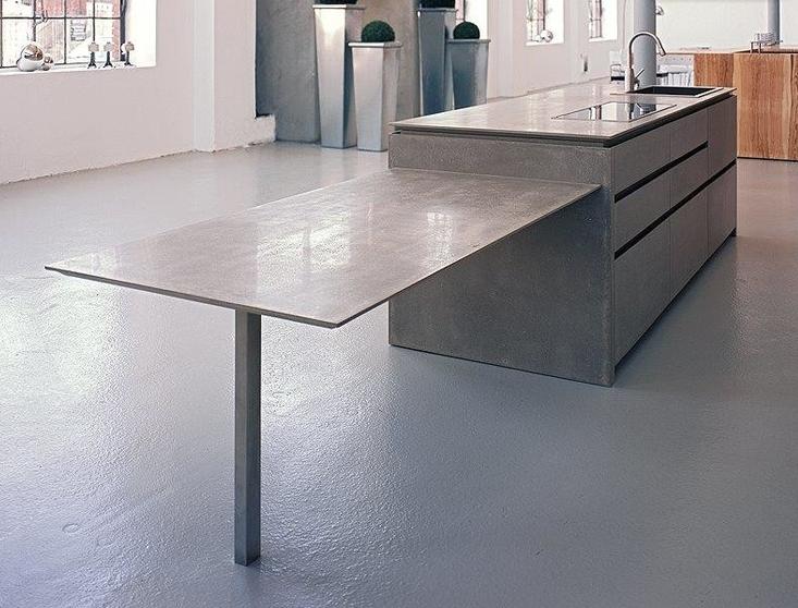 Milano Küchenwerk ~ Thin panel like table counter top very sleek and modern look