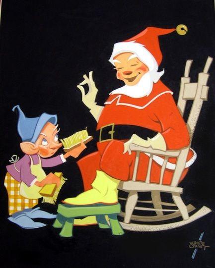 6538203 Jpg 433 541 Santa Art Vintage Christmas Cards Vintage Holiday