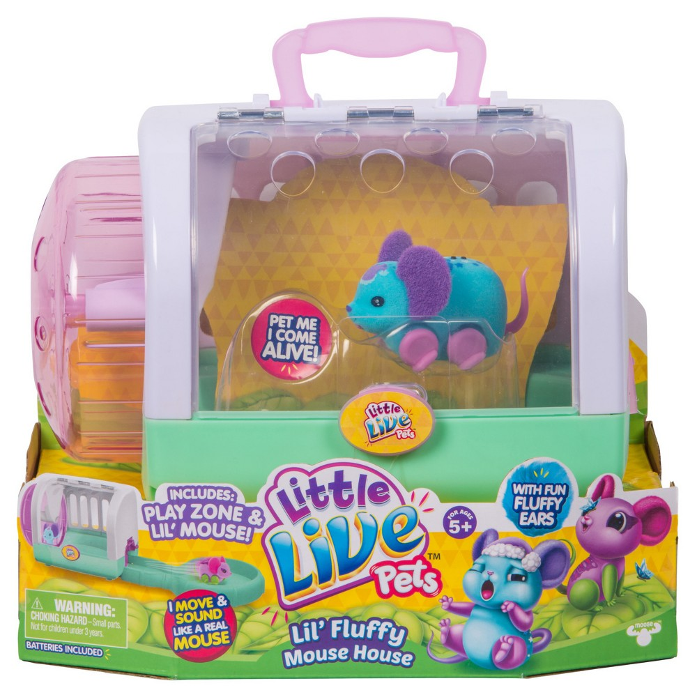 Little Live Pets Lil Fluffy Mouse House Snoozles Mouse Little Live Pets Cool Toys For Girls Indoor Toys