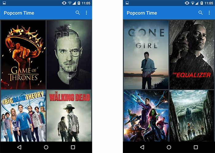 android popcorn time capture