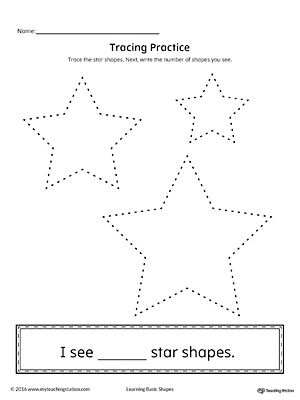 Geometric Shape Counting And Tracing Star With Images Shapes