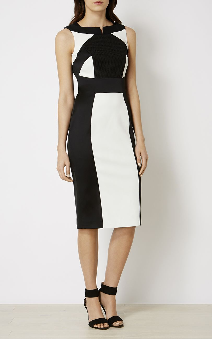 Black and white pencil dress.