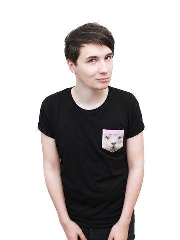 Llama Pocket T Shirt Clothes Dan Phil Dan Dan Howell