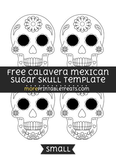 graphic regarding Skeleton Stencil Printable referred to as Absolutely free Calavera Mexican Sugar Skull Template - Minimal Designs
