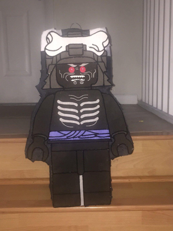 Amazing bad guy block ninja guy lord inspired pinata in