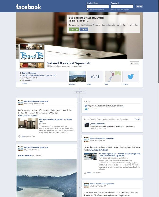 B B Squamish Facebook Business Business Pages Squamish