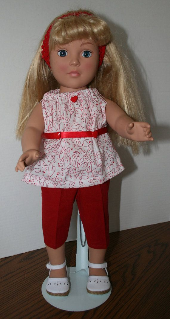 American+Girl+Doll+ClothesRed+Capri+with+by+KathiesDollCloset,+$9.99