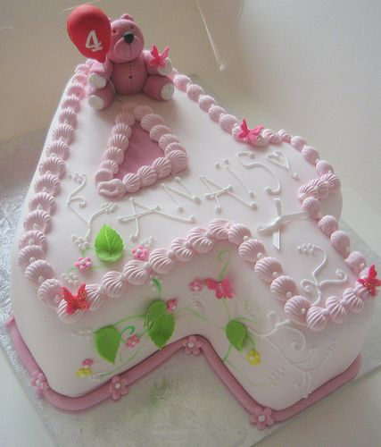 Number 4 Birthday Cake
