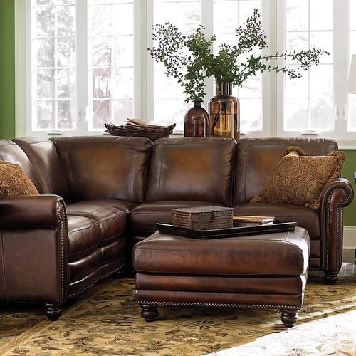 Distressed Leather Traditional Sectional Living Room Sofas Hamilton Sofa