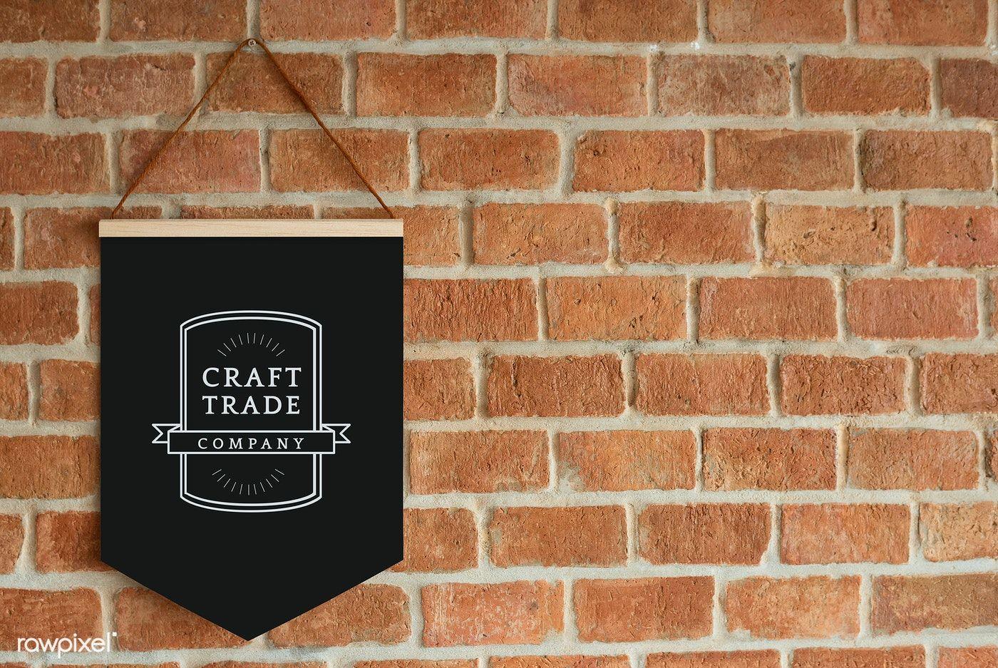 Craft trade company flag mockup | free image by rawpixel ...