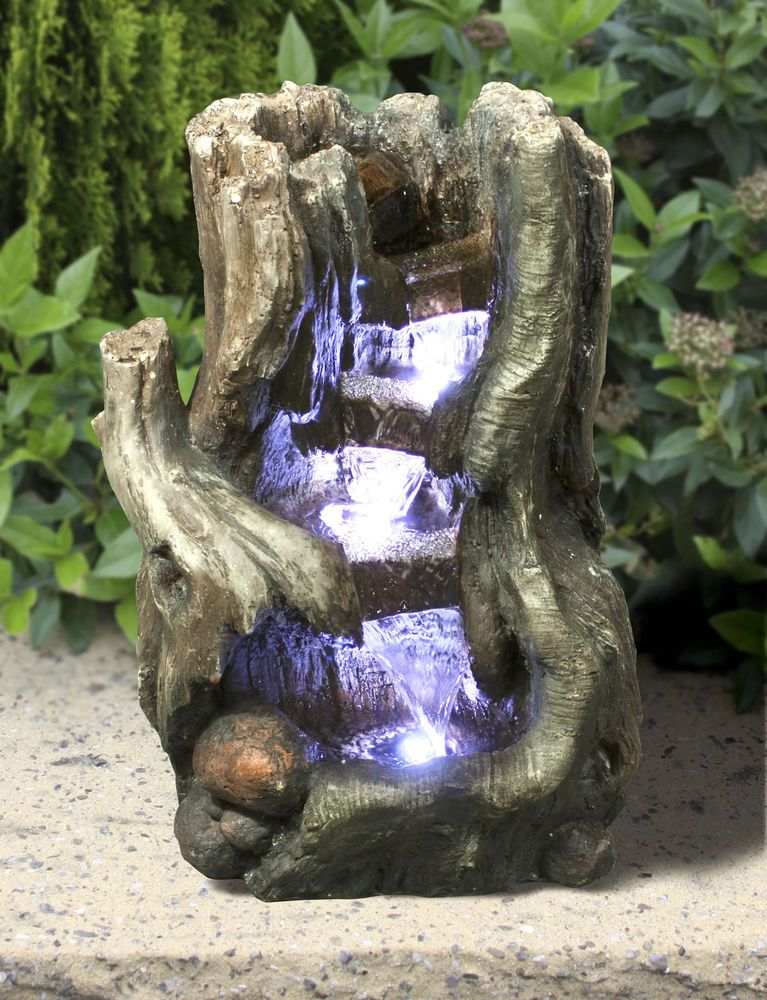 Details About Indoor Water Fountain Lights Led Tree Waterfall