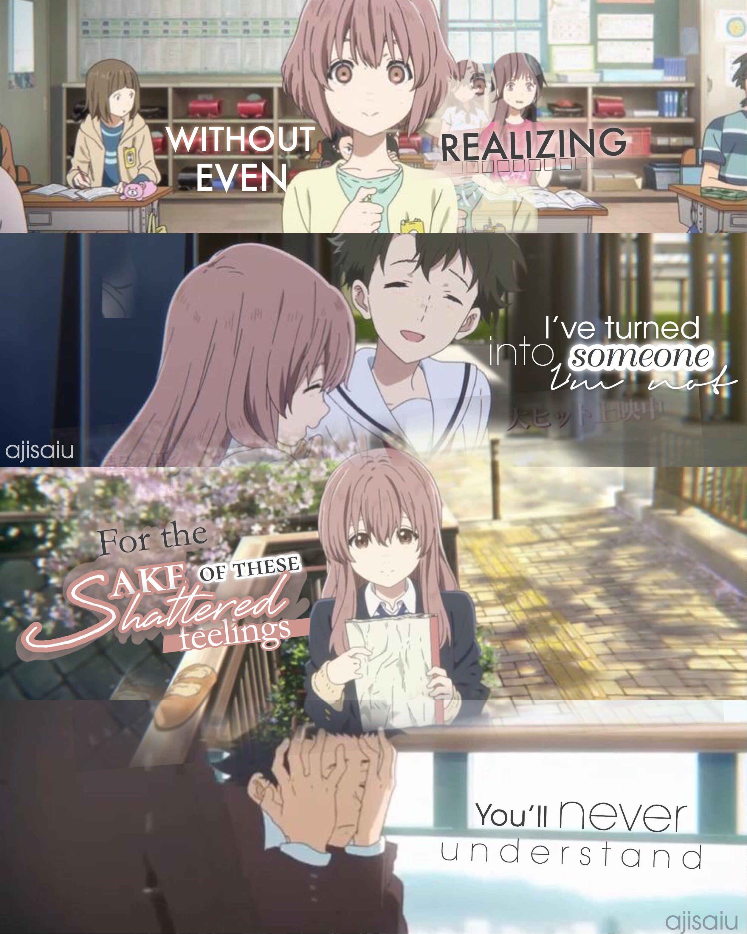Koe No Katachi Anime Quotes Anime Love Quotes Anime Friendship