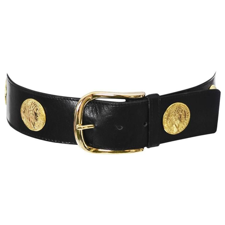 Ysl 1980s Vintage Belt Yves Saint Laurent Coins Medium Vintage Belts Vintage Ysl 1980s Vintage