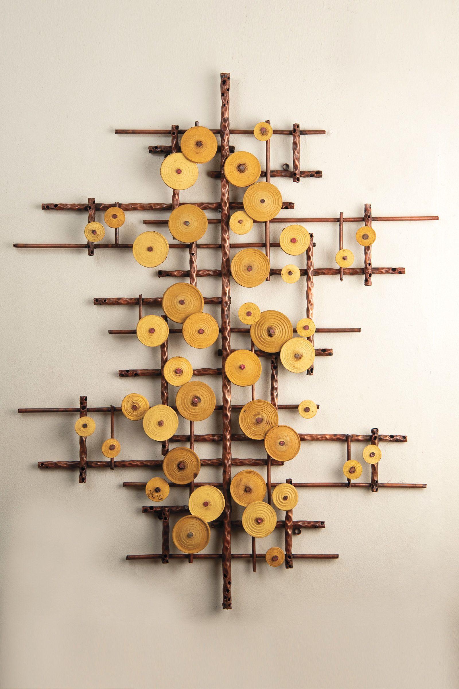 Golden Ripples By Hannie Goldgewicht Mixed Media Wall Sculpture Artful Home In 2020 Wall Sculptures Wall Hanging Crafts Diy Wall Art