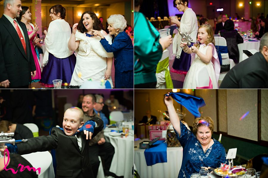 Tickle Trunk Full Of Costumes At A Wedding Reception Makes For Many Fun Candids Through The