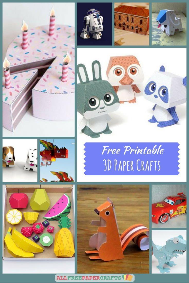 Beau 21 Free Printable 3D Paper Crafts. Diy Party Decorations3d ...