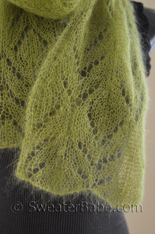 211 Chalice One-Ball Scarf PDF Knitting Pattern