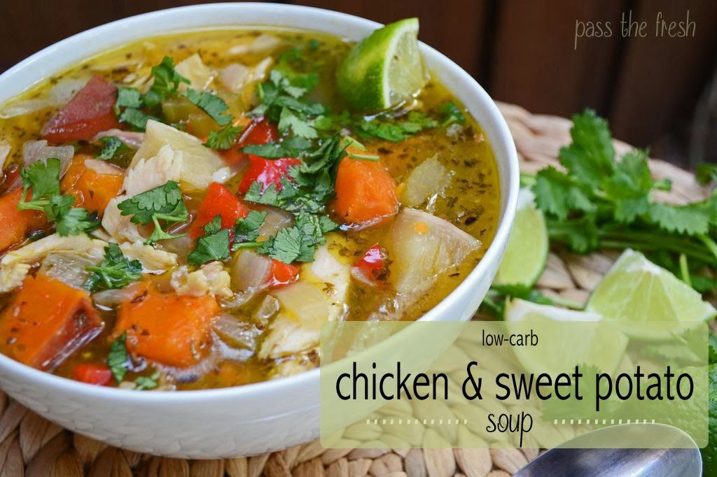 Pass the Fresh: Low-Carb Chicken and Sweet Potato Soup
