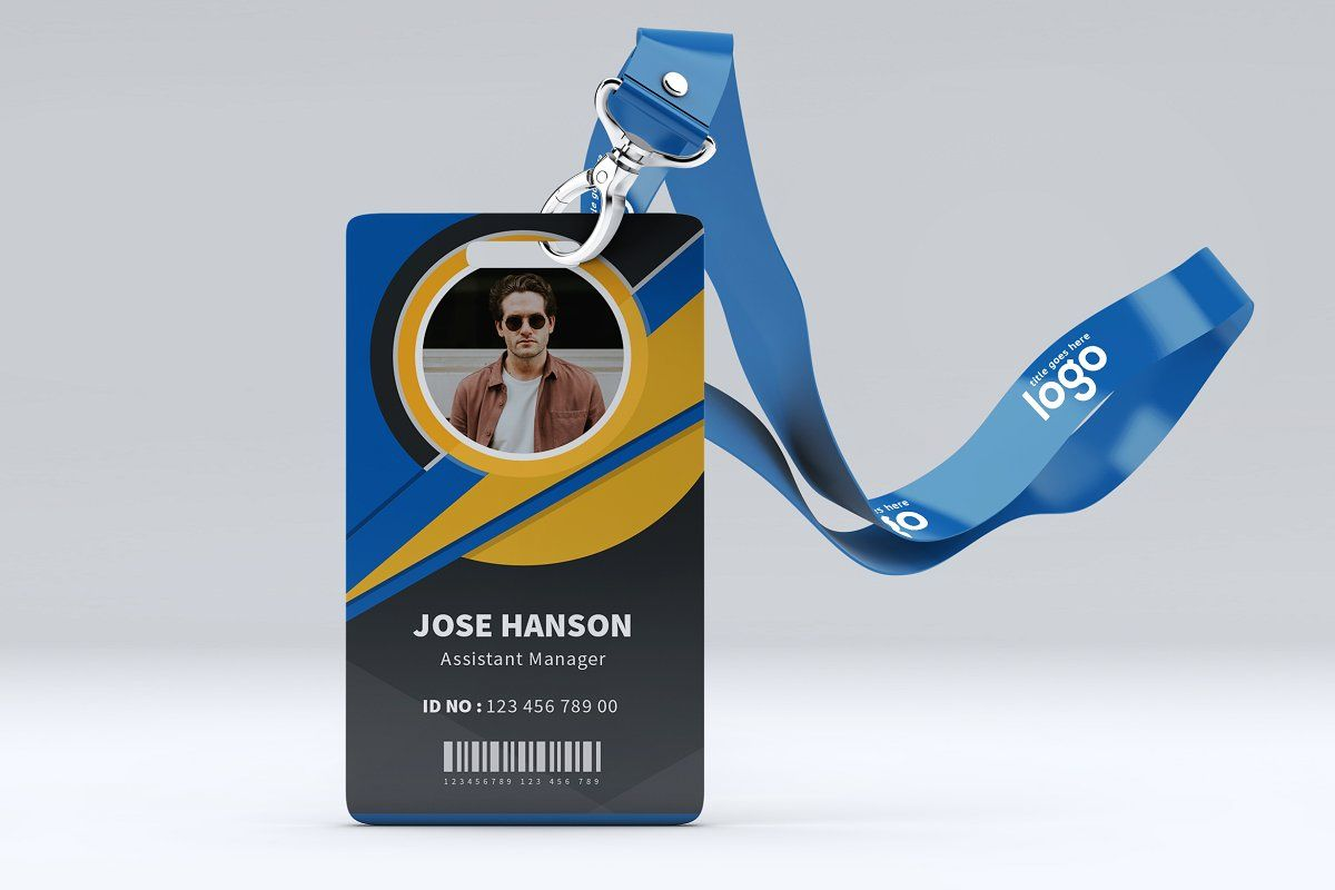 creative id card template for office in 2020  id card